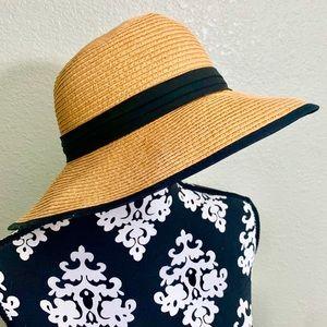 Worn Once! Perfect Beach Hat! Straw Mushroom Hat